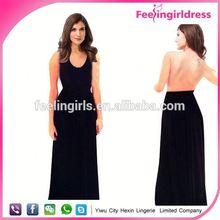 卸売安い大人エレガントなイブニングドレスオープンバックと長い無moq