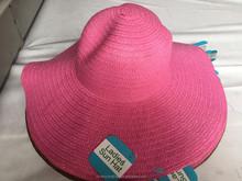 Summer Beautiful new wide Brim lady Cheap straw Hat Wholesale