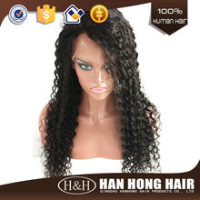 Hot selling Fashion 100 percent indian remy human hair lace wig/glueless full lace 100% human hair wig