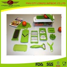 10pcs Multifunctional Plastic Vegetble Chopper/Slicer/Cutter Set
