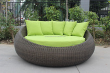 Aluminum round sun bed/rattan patio/daybed sun lounge outdoor use
