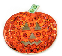 Happy Halloween Party Event Jack O Lantern Pumpkin Brooch Pin Costume Charm for Mother and Daughter