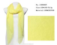 new style women scarf yellow scarfs long chiffon beach pashmina shawl