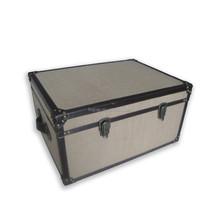 burlap fabric rectangular storage trunk, ,bedside table trunk