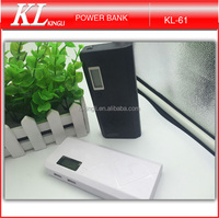 2015 best selling double usb charger high capacity power bank with LED lights for portable mobile phone battery