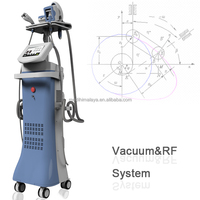 Multi-functional body slimming face scrubber beauty machine with IR