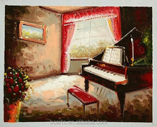 Hot impressionist style acrylic piano painting of customized size
