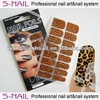 Leopard Adhesive nail wraps UK with 200 fashion design (SNF098)