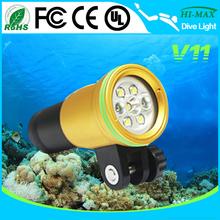 Золотой цвет кузова 100 м подводное погружение подводный фото / видео свет