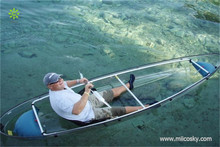 Transparent PC material gas kayak race boats motore lake and river boat kayak trolling motor sea fishing boat