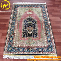 3.3x5ft White background oval center silk carpet and Carpet hand made carpet or rug