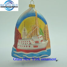 City of New York glass ornament unique items sell for Christmas decoration