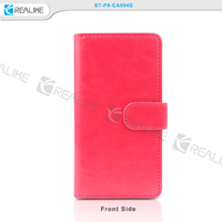 High quality pu leather wallet style phone case for huawei P8, mobile accessories for P8