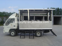 panel solar trailer lectrical operated delicious fast food vanfor sale