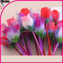 Stationery cartoon ballpoint pen rose flower shaped cute kids school stationery