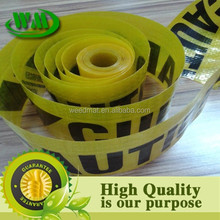 high quality pe woven cloth printable safety caution warning tape