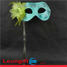 Halloween carnival eye flaw mask with stick