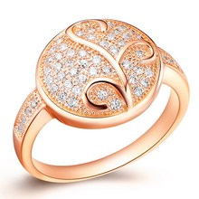 Economic ethnic gold plated red zircon ring blanks
