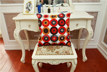 embroidered simple design sofa chair decorative cushion cover dots design sqaure pillow case