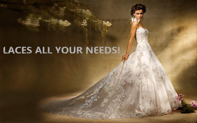 dentelle / tissu en dentelle africain pour robe de mariée-Lacet-ID de ...