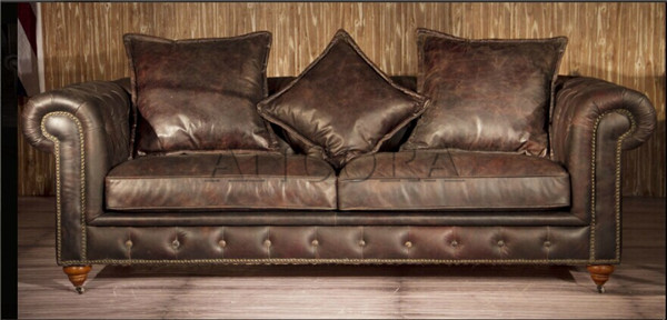 Retro Vintage Style 321 Leather Chesterfield Sofa A127  Buy