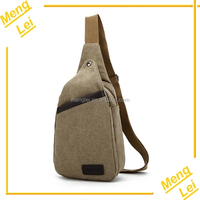 Factory wholesale fashion leisure mens canvas single shoulder bag