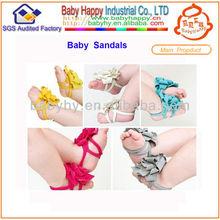 infantil para bebés de algodón recién nacido descalzo pétalos de flor de sandalias zapatos calcetines