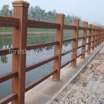 Plexiglass rambarde du pont en bois pont sur remorque - Barandilla de madera exterior ...
