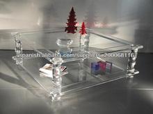 mesa de centro de acrílico