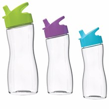 500ml New arrive clear plastic water bottles with straw lid