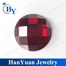 Wholesale Checker Cut Red Glass Gems