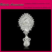 Drop Shaped Elegant Bridal Rhinestone Brooch accessories women Vintage Wedding Events Occasion Rhinestone brooches RLD2226RB