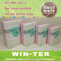 WT-PBX-1613-2 rectangle paper box for gift packaging