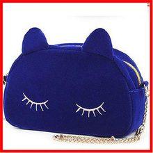 2014 bolsos de las mujeres de piel de conejo bola teléfono móvil bolsa bolso bordado animales en forma de bolsos de compras de l