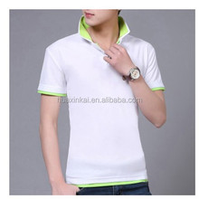 OEM Double Collar Polo Shirt, White Plain Polo Short for Men, Summer Fashion Polo Shirt