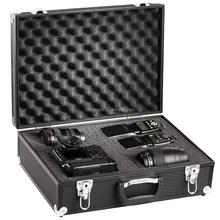 "Pro Aluminum Dslr Camera Case Foam Padded 18.26"" X 13.38"" X 5.91"" Black"
