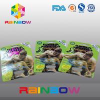 Custom design herbal enhancement pill paper box with card, sex pill packaging box