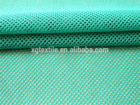 Lattice shape polyester tricot knitted mesh fabric
