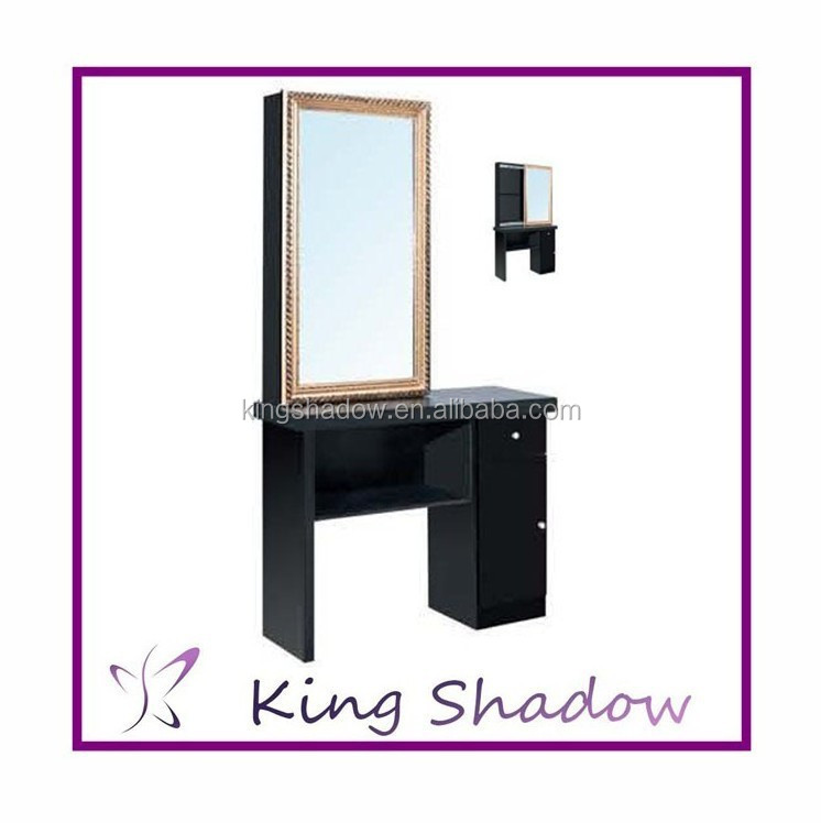 2014 Hot Sale Barber Mirror Station Table
