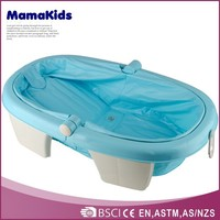Freestanding collapsible baby bathtub wholesale foldable kids plastic bath tub