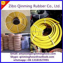 yellow rubber gas hose pipe