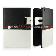 New lichee stripe leather case for Ipad mini,can put card and money,Good quality