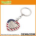alaska personalizado chaveiro em forma de coração com bandeira
