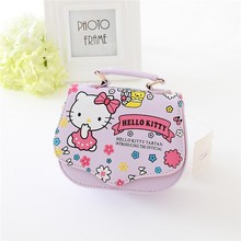 Fashion children handbag sweet cat printing design PU bag for little girls