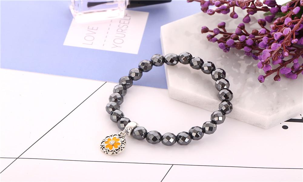 2017 Mode En Gros Mens Onyx pierres précieuses facettes Extensible Perlé Bracelet