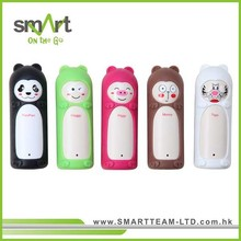 Cutie animal power stick with changeable silicon sleeve for personalizztion.