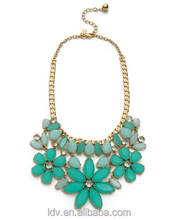2014 Fashion Opal Giverny Blue Stone New York Gardens Of Paris Statement Necklace