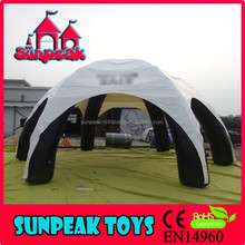 TEN-2012 White Inflatable Trade Tent/Clear Inflatable Tent