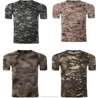 OEM And ODM Latest Design Mens Crew Neck Dry Fit Polyester Camo T-Shirt Uniform Military