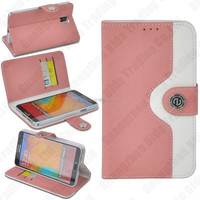 wallet PU leather phone cover case for Samsung Note3 with card slot.flip bag for Note 3with stand function